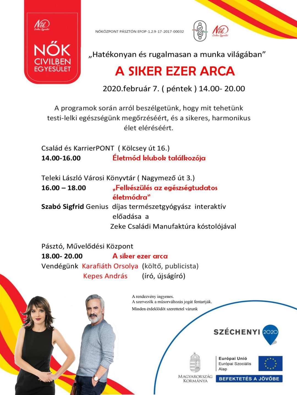 A SIKER EZER ARCA - 2020. FEBRUÁR 7.